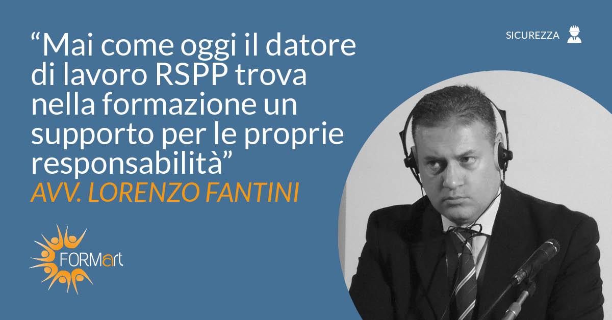 Corso RSPP datore di lavoro: intervista a Lorenzo Fantini