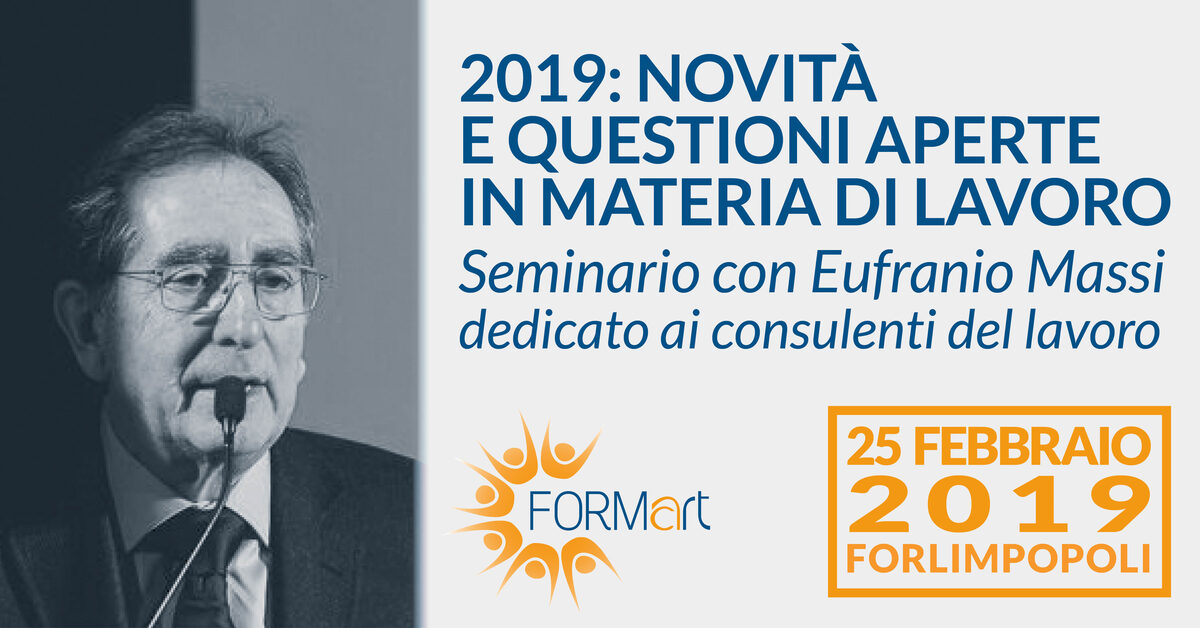 Seminario Eufranio Massi Forlimpopoli 2019